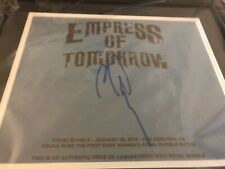 NEW SIGNED WWE Asuka Royal Rumble 2018 Ring Canvas Plaque