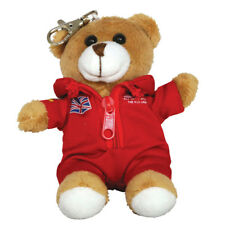 RAF Red Arrows keyring teddy bear pilot keychain Royal Air Forces Association