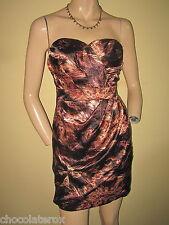 AX Paris ~ Brown & Black Animal Print Bandeau Party Mini Dress Size 10  BNWT New