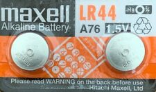 Maxell A76 LR44 AG13 L1154 G13 V13GA Package of 2 Batteries.Authorized Seller
