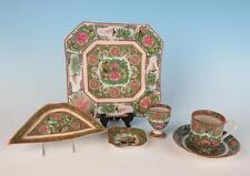 6pcs Antique/Vintage Chinese Famille Rose Porcelain Cup Saucer Plate Diush Egg
