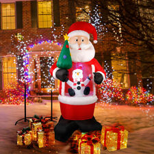 Babbo Natale Gonfiabile Gigante Illuminato che nevica da solo Con LED