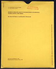 New listing Usgs Branchville New Jersey Geologic Map 1992 Beemerville Syenite Phonolite Etc.