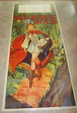 HUGE 3-Sheet Original Old Vintage 1930's - RED RIDING HOOD THEATRE Show POSTER