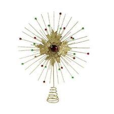 Adornos de estrella de metal para árbol de Navidad