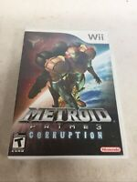 Metroid Prime 3 Corruption Nintendo Wii CIB Complete w/ Manual, Inserts