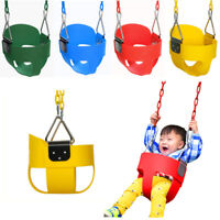 "Full Bucket Swing for Toddler Seat Set Outdoor Play W/ 58"" Steel Chain Kid Baby"
