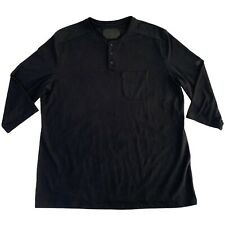 Mens XL Under Armour Black Fitted Unstoppable Knit 3/4 Utility Henley Shirt