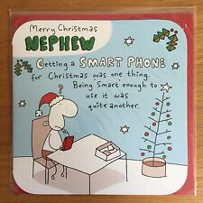 nephew smart phone christmas new year greeting large card new c168