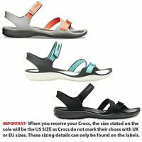 Crocs Swiftwater Webbing Summer Pool Beach Relaxed Fit Adjustable Sandals