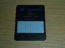 SONY PLAYSTATION 2 PS2 OFFICIAL GENUINE MEMORY CARD 8 MB 8MB in Black Mem Card