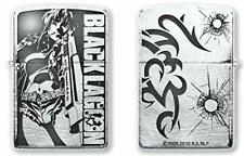 ZIPPO Oil Lighter Black Lagoon Levi Silver Brass Double Sided Processing Anime