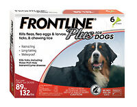 Frontline Plus For Dogs 89 - 132 lb 3pack Free Shipping