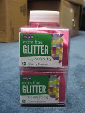 "Sulyn Extra Fine Glitter ""Cherry Blossom"" 2.5 oz LOT OF TWO (2)"