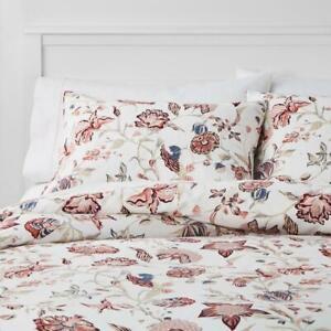 Full/Queen Traditional Floral Family Friendly Duvet Cover/Sham Set - Threshold
