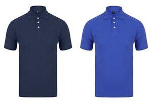 Mens Polo Shirt Plain Shirts Pique Tee New Golf Work Casual S - 3XL - Plain Polo
