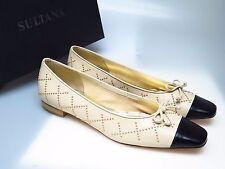 SULTANA Schuhe Designer Damenschuhe N4346 Tati Nappa Beige Simona Gr. 41,5 NEU