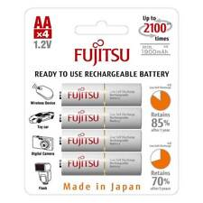 4 PILES ACCU FUJITSU RECHARGEABLE AA LR06 1.2V 1900mAh Ni-Mh BATTERY BATTERIE