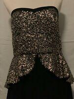 City Chic Glittery Formal Dress Size XS