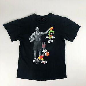 Michael Jordan Space Jam Marvin the Martian & Bugs Bunny Loony Toons T Shirt
