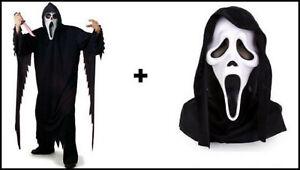 ★ Scream Geister Geist kostüm , Halloween Horror Kostüm mit Maske One Size