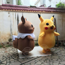 NEW Pikachu Eevee Mascot Costume Adults Party Fancy Dress Suits Parade Outfits