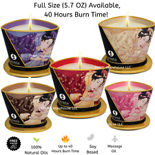 Shunga Couples Erotic Massage Wax Candles Choose Scent & Size