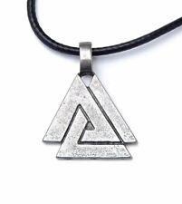 Viking Valknut Pendant Necklace, Odin's Knot, Protection Symbol, USA Seller!