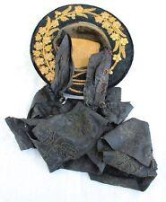 Antiker goldbestickter Trachtenhut -  Priener/Tiroler Hut mit langen Bändern
