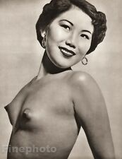 1950's Vintage Ethnic FEMALE NUDE Asian Oriental CHINESE Photo Art JOHN EVERARD