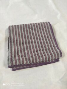 Norwex Purple Gray Strip Hand Towel