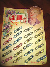 1950s Hair Slides grips with original display card