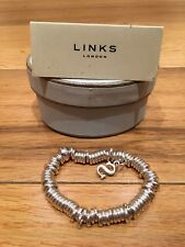 Links Of London Sweetie Silver Charm Bracelet. With 'S' Charm (can Be Removed)