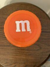 2002 M&M's A. Aronson Plastic Insulated Round Container Bowl Orange Lid
