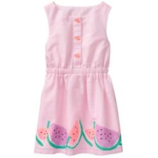 NWT Gymboree Girl 2T Light Pink Watermelon Dress SUNNY ADVENTURES Buttons NEW