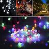 50 LED Batterie/USB Ball Lichterkette Weihnachten Garten Dekoration Wasserdicht
