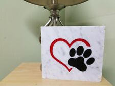Heart with Dog Paw Home and Garden Stone, Love My Dog