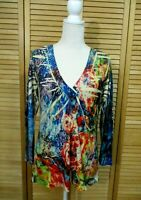 Mushka By Sienna Rose Long Sleeve Sublimation Tunic Top Size L