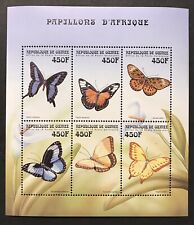 GUINEA 1999 MNH BUTTERFLIES OF AFRICA STAMPS SHEET BUTTERFLY BUG INSECT WILDLIFE