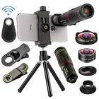 4 in 1 Cell Phone Camera Lenses Kit, 18X Telescopic Zoom Lens/4K HD Super Wide A