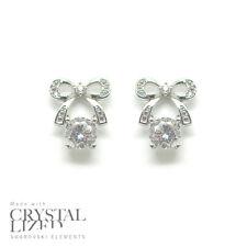 e00fd972f67 Butterflies Swarovski Elements Crystal 18-krgp White Gold Plated Stud  Earrings