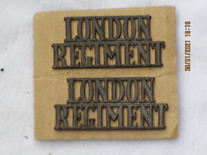 London Regiment , Schultertitel, Messing, British Army