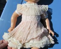 Mariquita Perez Doll Clothes Organdy Eyelet Pink Party Dress 1940s Tagged Rare