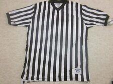 Referee Shirt Short Sleeve Black White Stripes Sports XL NWT Size XL Champro