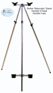 Parker Angling 3-5ft Tripod with Double V-Heads and Cups