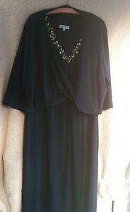 Nightingales Navy Dress and bolero mother of the Bride/Groom UK 24 WORN ONCE