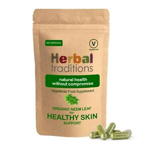 Herbal Traditions Organic Neem Leaf Capsules  - Natural Supplement
