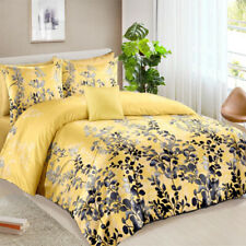 All Size Bed Ultra Soft Quilt Duvet Doona Cover Set Bedding Pillowcase Yellow