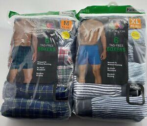 Fruit of the Loom Men's Tag-Free Boxer Shorts   12 p k