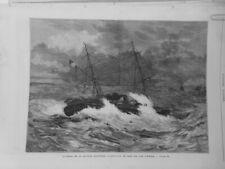 1879 Ui Schiffswrack Schiff Batterie Schwimmkugel Rade Inseln Hyeres Artiguenave